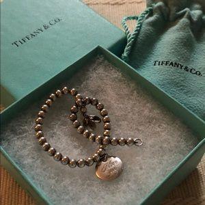 "💯 authentic Tiffany beaded ""I love you"" bracelet"